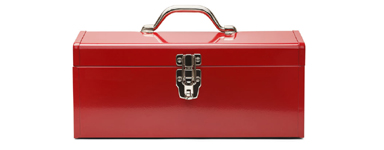 38286107 - closed tool box isolated on a white background.